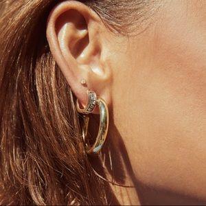 Kendra Scott Colette Hoop Earrings in Silver
